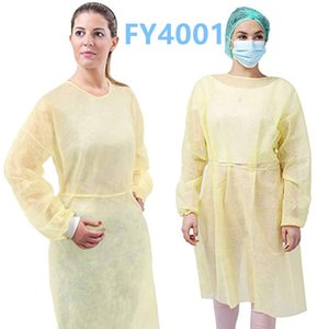 24h DHL Shipping, Protection Gown Disposable Protective Isolation Gown Dustproof Coverall Anti-fog Anti Isolation Suit Waterproof