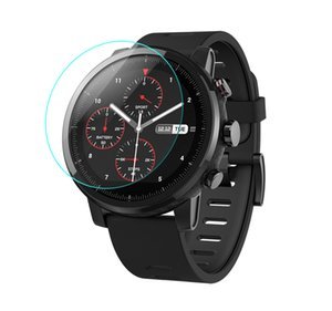 Ultra Clear Protective Film 2.5D Tempered Glass 35-46mm Diameter Screen Protector For Xiaomi Huami Amazfit Sport Smart Watch