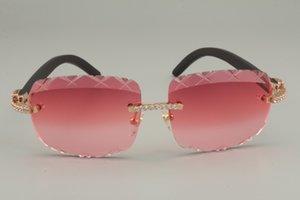 Diamant Direct 8300756-B Natural 56-18-135mm Lunettes de soleil en bois, 2021 Sunglasses de luxe personnalisées Taille de la lentille noire: Gravure X Vente de HQQ