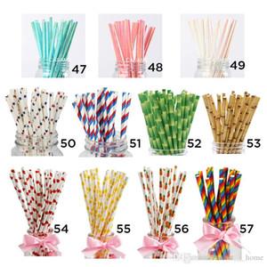 Biyobozunur Kağıt Payet Toptan - 100+ Stiller Gökkuşağı Çizgili Kağıt Straws İçme - Suları, Shakes için Toplu Kağıt Pipetler, Smooth
