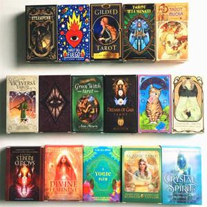 Cartes Tarot Anglais Cartes lumière Visions Pont Oracles Guide Livre électronique jeu Toy Divination Board Game