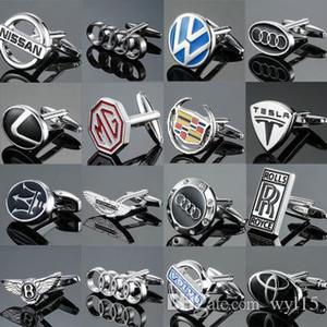 Klasik High End Kol Düğmeleri Lüks Araba Logo Serisi Kol Düğmeleri Düğme Erkek Fransız Gömlek Kol Düğmeleri Studs Sıcak Satış