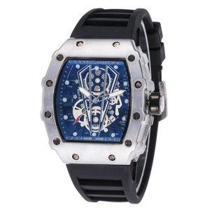 Новая мода Горячие продавать новую мужских головки привидения полой Luxury бренд моды Скелет часы мужчины череп спорт кварцевых часы оптом Свободную перевозку груза