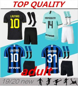 19/20 SKRINIAR LUKAKU Futbol forması yetişkin kitleri 2019 2020 ALEXIS NAINGGOLAN LAUTARO Milan Set Çorap Maillot de ayak futbol forması
