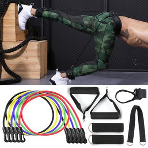 11Pcs Resistance Bands Set Crossfit Stretch Training Yoga Exercise Fitness Band Rubber Expander Tubes Home Gym Pilates Pull Rope