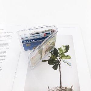 Прозрачный Clear Unique Мода Дизайн карты держатель кошелек Ins Популярные ПВХ Кошелек хорошее качество