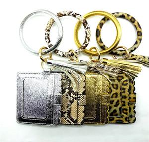 Mit PU-Leder-Troddel-Armband-Karten-Beutel Kreditkarten-Halter Slots Frauen-Mappen-Geldbörse mit Schlüsselanhänger Schlüsselanhänger Foto Case Taschen E21805