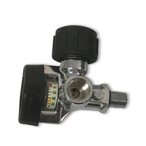 2019 300bar 4500 Psi Pcp Válvula De Cilindro De Ar para SCBA Cilindro De Fibra De Carbono / Tanque de Paintball com Calibre De Pressão Grande Acecare