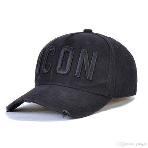 ICONO hombre del diseñador sombreros Gorra bordado de lujo del icono del sombrero ajustable de 4 colores detrás de las letras de la marca D2 sombrero de lujo