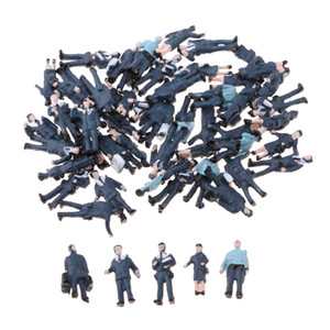 56шт многоцветные окрашенные полицейские фигуры модели N макет Железнодорожный пейзаж DIY Accs