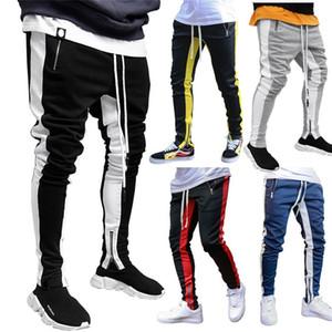 Man Casual Pants Joggers Hip Hop Sweatpants Fashion Side Stripe Mens Pencil Pants Streetwear Male Pant Skinny Trousers For Men