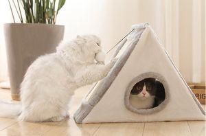 Горячий продавать Pet Cat Bed Крытый Котенок дома Теплые Коты Nest складная Cave Симпатичные матрасов Зимние продукты