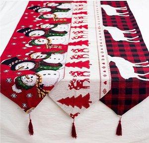 عيد الميلاد لوازم الديكور القطن مطرزة عيد الميلاد طاولة العلم الإبداعي عيد الميلاد الأوروبي الجدول الديكور 180 * 35 سم HP005