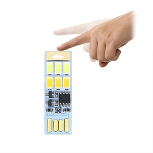 Touch switch dimming USB card night light dual color temperature portable emergency light reading night light