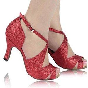 XSG chaussures spéciales pour les femmes en latin adultes chaussures de danse latine avec des femmes de chaussures de danse carrée salle de bal de danse portent des costumes chaussures à talons