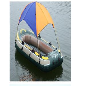الحرة الشحن انتكس قارب قابل للنفخ خيمة الشمس المأوى 2 3 4 شخص PVC المطاط قارب صيد خيمة الشمس مظلة شاطئ مظلة