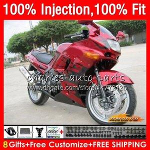 Pour injection KAWASAKI ZZR400 ZZR400 99 00 01 02 03 04 05 06 07 85HC.88 ZZR 400 1999 2000 2001 2002 2003 2004 2005 2007 flammes rouges Carénage