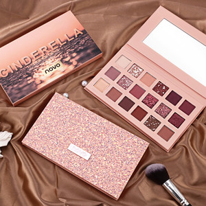 NOVO Sparkle Shimmer Eyeshadow Palette 18 Couleurs Métalliques Glitter Mat Pigmented Fard À Paupières Poudre Make up products easy to wear