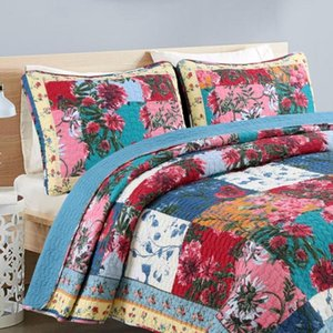 Manual Flower Quilting 100% Cotton Bedding Set Bed Cover Air Conditioning Bedspread 230x250cm Patchwork Coverlet Bed Cover New