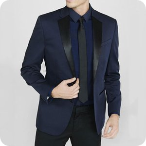 Latest Designs Blue Man Suits for Wedding Groom Tuxedo Black Notched Lapel Casual Man Blazer Groomsmen Suit 2Piece Custom Made Costume Homme