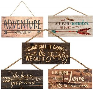 Criativo Natal de suspensão de madeira Sign Home Decor Carta Arrows parede da cozinha Decor Ornaments