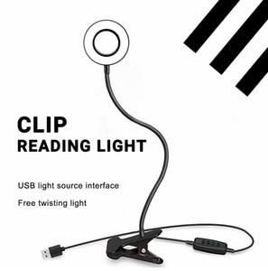 Mangueira Table Lamp LED flexível Desk Lamp Toque Clipe Lâmpadas Estudo desktop USB luz Night Light Estudo recarregável