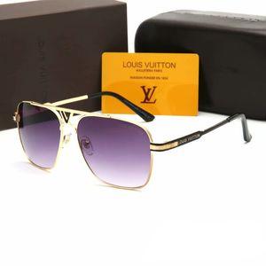 2019 Yeni moda erkekler ve kadınlar için fransız marka güneş gözlüğü büyük kare metal çerçeve mektup tarzı güneş gözlükleri PC HD lens sürüş gözlük