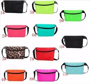 Playa Bolsa de cintura pequeña Waistpack Carta monedero Mujeres bolsillo de la manera bolsillos bolsillos impermeables deportivos playa para deportes al aire libre 11colors