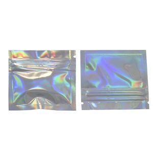 7.5 * 6cm Kleine prickelnde Aluminiumfolie Tasche Reclosable Mini Zip Lock Mylar-Beutel Heat Seal Coffee Bean Seed Probe Verpackung Lagerung Bag200pcs