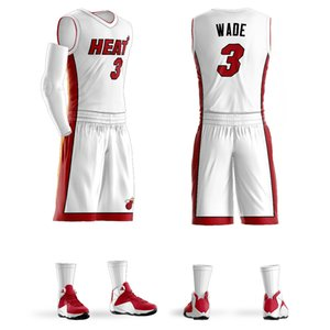 Costumbre Colegio liga de baloncesto jerseys Establece camisa Dwyane Wade Jersey púrpura personalizado del baloncesto diseño al por mayor