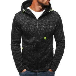 2019 Hombres sudadera gris con capucha Negro / Fall cremallera sudadera con capucha de la chaqueta con capucha sudadera con capucha casual Gimnasio Abrigos Tops Outwear