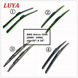 "LUYA أربعة أنواع من ممسحة Blade in Car الزجاج الأمامي للسيارة لـ GMC Sierra 1500 (2000 - 2006) الحجم: 22 ""22"""