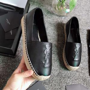 Donne Espadrillas cunei MONOGRAM ESPADRILLES in pelle di agnello Donne metallizzato espadrillas scarpe di cuoio del progettista appartamenti