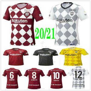 2020 2021 J lig Vissel Futbol Formalar 8 A.INIESTA 7 DAVID VILLA MITA 10 Podolski Özel Ana Kırmızı Deplasman Beyaz Futbol Gömlek