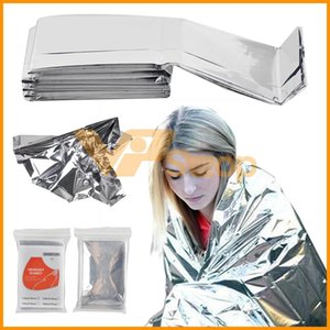 210 * 130 centímetros exterior Desporto Alpinistas Life Saving Militar Emergency Blanket Waterproof prata Blanket Survival Resgate isolamento Curtain