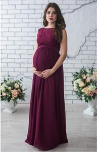 عارضة أزياء فساتين لون الصلبة أكمام إمرأة مصمم الأمومة فساتين عادية الإناث الملابس الرباط نصب منصة إمرأة