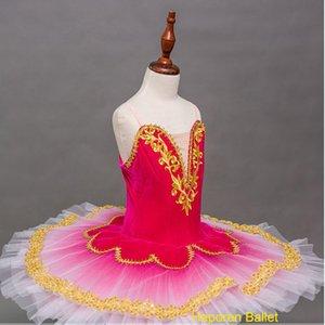 moderna saia ballet infantil, Red Rose dançar personalizados traje trajes saia novo grupo de meninas performance de dança ballet tutu