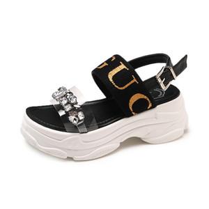 2019 Yaz Yeni Moda Ayakkabılar Kadınlar Boş Sandalet Rahat Platformu Ayakkabı Açık parmaklı Açık Açık Çalışma Size35-39 CJ191220 Ayakkabı