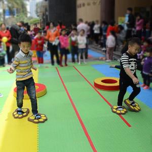 Cartoon Bear Paw Shoes enfants d'âge préscolaire jouet chaussures parent-enfant accessoires de jeu interactif portent paire paire de chaussures.