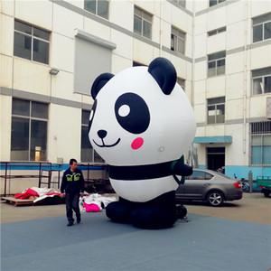 Personalizado gigante mascote panda inflável, fabricante modelo de Natal para Publicidade