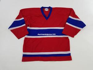 Economici personalizzati 1970s TREMARK Montreal Canadians Hockey Blank Jersey Vintage Mens Stitch Personalizzato Qualsiasi numero Nome XS-6XL