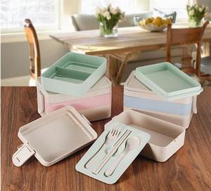 Ограниченный обед Bento Boxes Leak Proofse Rice HUSK Материал Пищевой контейнер для хранения Микроволновая печь нагреваемая посуда JXW277
