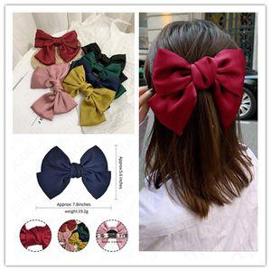 Meninas baratos Grande Titular Bow Knot Hairgrips Bohemian hairbow Ties grampos de cabelo Mulheres Acessórios de cabelo bowknot Grampos Rabo Headress E4703