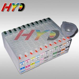 11-couleur-ensemble, cartouche d'encre vide rechargeable avec Chips de remise à zéro automatique pour Epson PRO 4900 imprimante à jet d'encre, costume pour colorant, un pigment, encre de sublimation