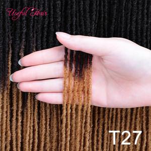 """extensions cheveux gros soeur Locks Afro crochet Tresses de 18"""" Blonde Brown Bug de synthétiques pour les femmes hétérosexuelles Crochet cheveux longs marley"""