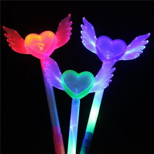 Niño Glow Sticks Magic Angel Light Stick Led Luminescence Heart Flash Resistance To Fall Vender bien 2 4hp J1