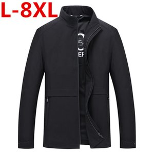 autumn New Styles Men Jacket Collar Zipper Business Casual Cozy Coats And Jackets Big Size 8XL 7XL 6XL 5XL 4XL 3XL Men Clothing