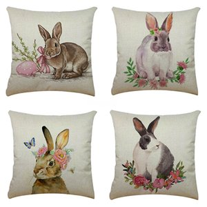 Mermaid Sequins Rabbit Pillow Case Plush Joyous Double Sided Positioning Cushion Er European Classic Gilding Rabbit Pillowcase Hot Sellin#139