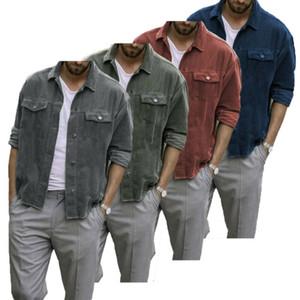 IMCUTE мужские зимние вельветовые пальто лацкан сплошной цвет мужские Slim Fit держать теплые куртки пальто Мужские повседневные Куртки пальто уличная одежда