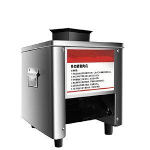 BEIJAMEI Commercial Meat Slicer automatique en acier inoxydable 850W Shred Slicer Dicing machine électrique Moulin de coupe de légumes
